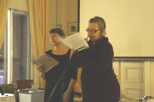Kulttuuriosuuskunta Puhurin lukuteatteria Musteklubilla 15.2.2013